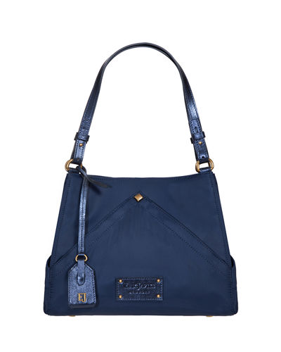 Peyton Smooth Nylon Shoulder Bag