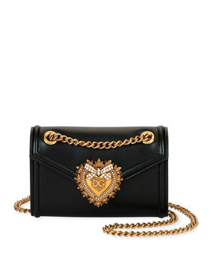 961b970db62 Dolce   Gabbana Devotion Mini Leather Crossbody Bag