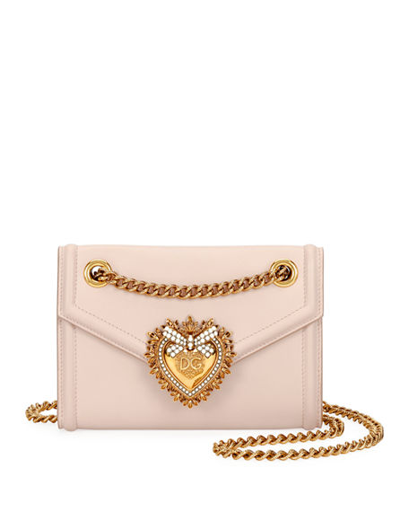 019afced813 Dolce & Gabbana Devotion Mini Leather Crossbody Bag In Pink | ModeSens