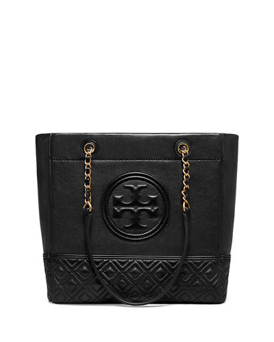 Tory Burch Fleming Chain-Handle Leather Tote Bag