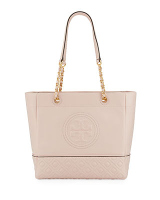 Fleming Chain Handle Leather Tote Bag by Tory Burch
