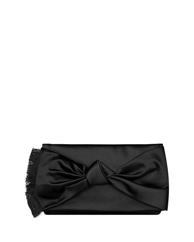 Eleanor Satin Bow Clutch Bag