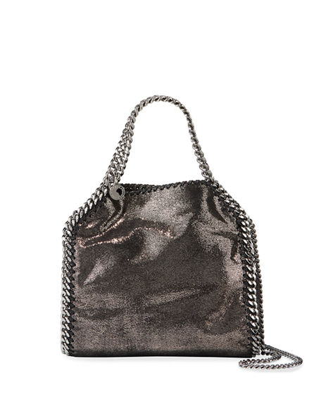 Image 1 of 3: Stella McCartney Mini Falabella Metallic Chain Tote Bag