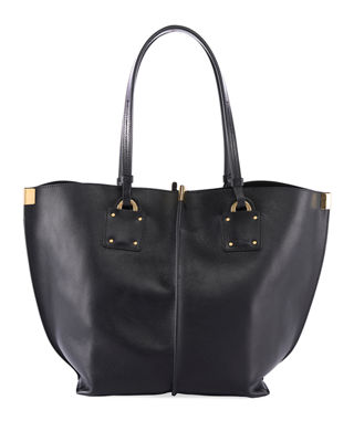Vick Wide Leather Tote Bag by Chloe