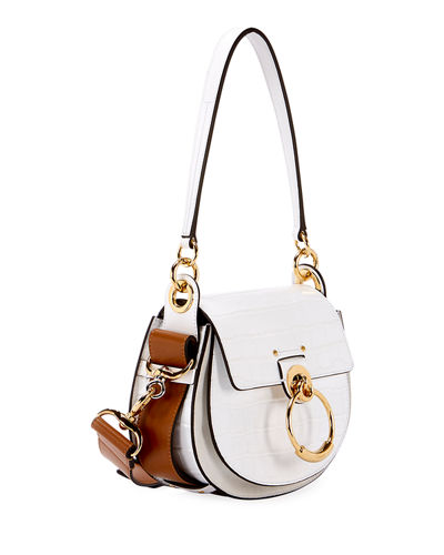 Chloe Tess Small Embossed Leather Shoulder Bag