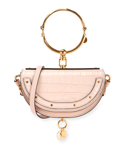 Nile Metallic Minaudiere Shoulder Bag