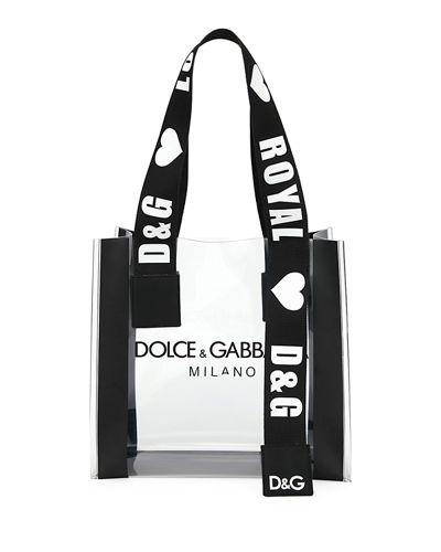 See-Through Screen-Printed Shopping Tote Bag