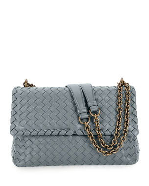 cd24f2bf00 Bottega Veneta Intrecciato Double Chain Shoulder Bag