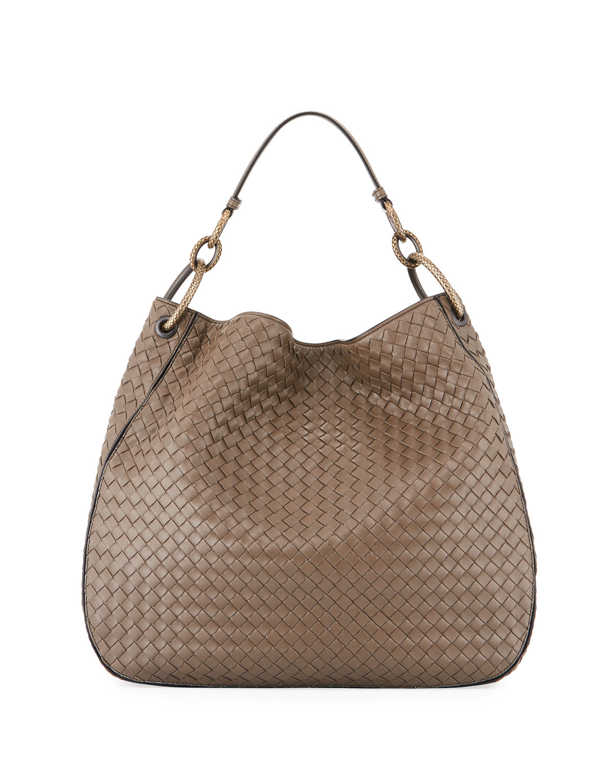 b7775727b3 Bottega Veneta Intrecciato Leather Shoulder Bag