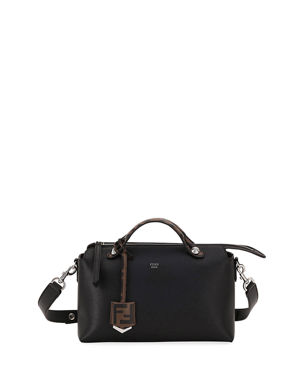 3a6e503ead7d Fendi By The Way FF Leather Satchel Bag