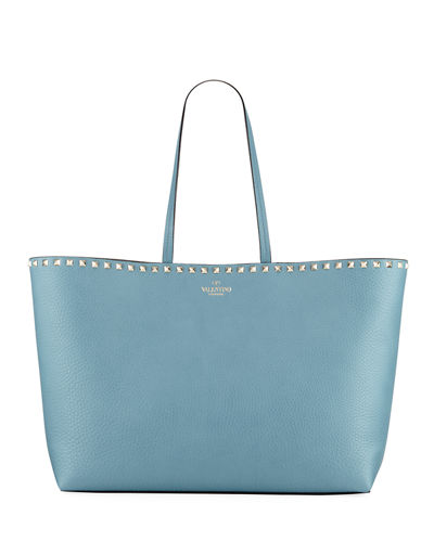 Rockstud Vitello Leather Tote Bag