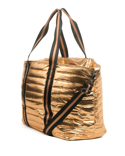 Think Royln Wingman Metallic Quilted Tote Bag