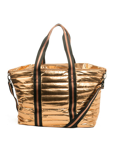 Wingman Metallic Quilted Tote Bag