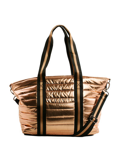 Junior Wingman Metallic Quilted Tote Bag