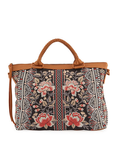 Calida Overnight Embroidered Canvas Tote Bag