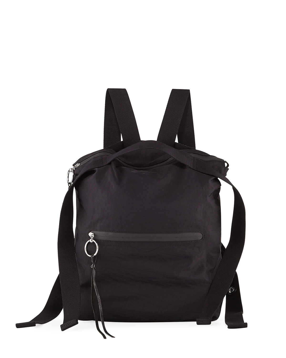 Distressed Nylon Tote Backpack
