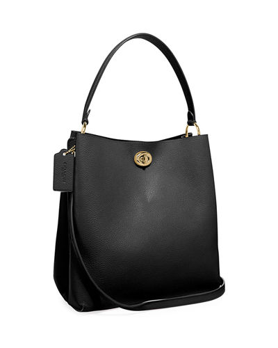 5875b55666 Quick Look. Coach 1941 · Charlie Pebbled Leather Bucket Bag. Available in  Black