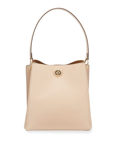 Charlie Pebbled Leather Bucket Bag