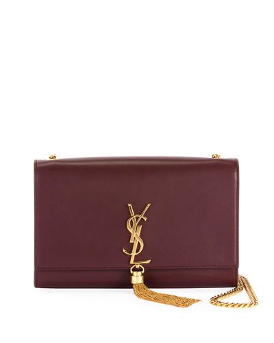 Monogram YSL Medium Chain-Strap Tassel Bag