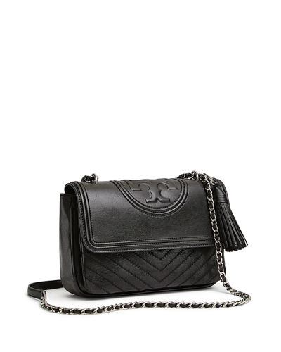 52c4fb9ff0 Quick Look. Tory Burch · Fleming Distressed Leather Shoulder Bag. Available in  Black ...