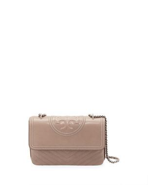 9639006053e4 Tory Burch Fleming Distressed Leather Shoulder Bag