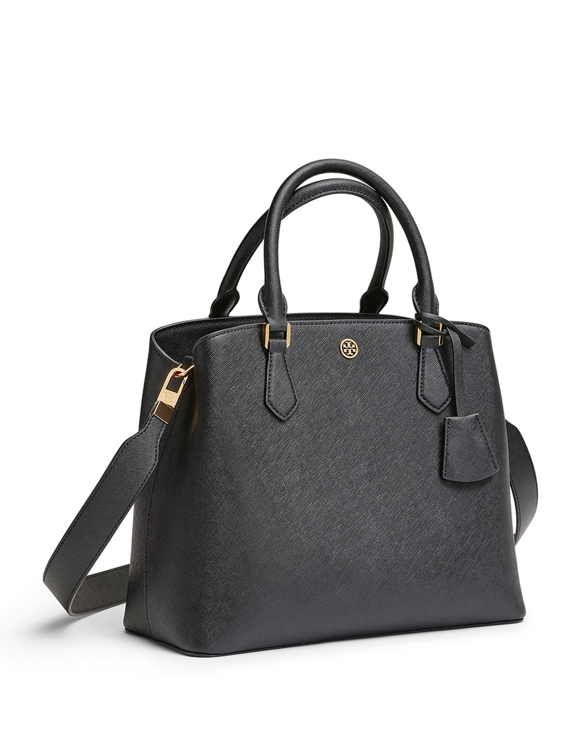 3061a49eed8b Tory Burch Robinson Medium Triple-Compartment Leather Tote Bag ...