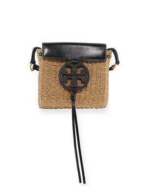 5477d05a6cc6 Tory Burch Miller Straw Crossbody Bag