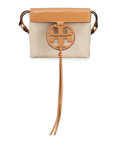 Miller Two-Tone Canvas Crossbody Bag