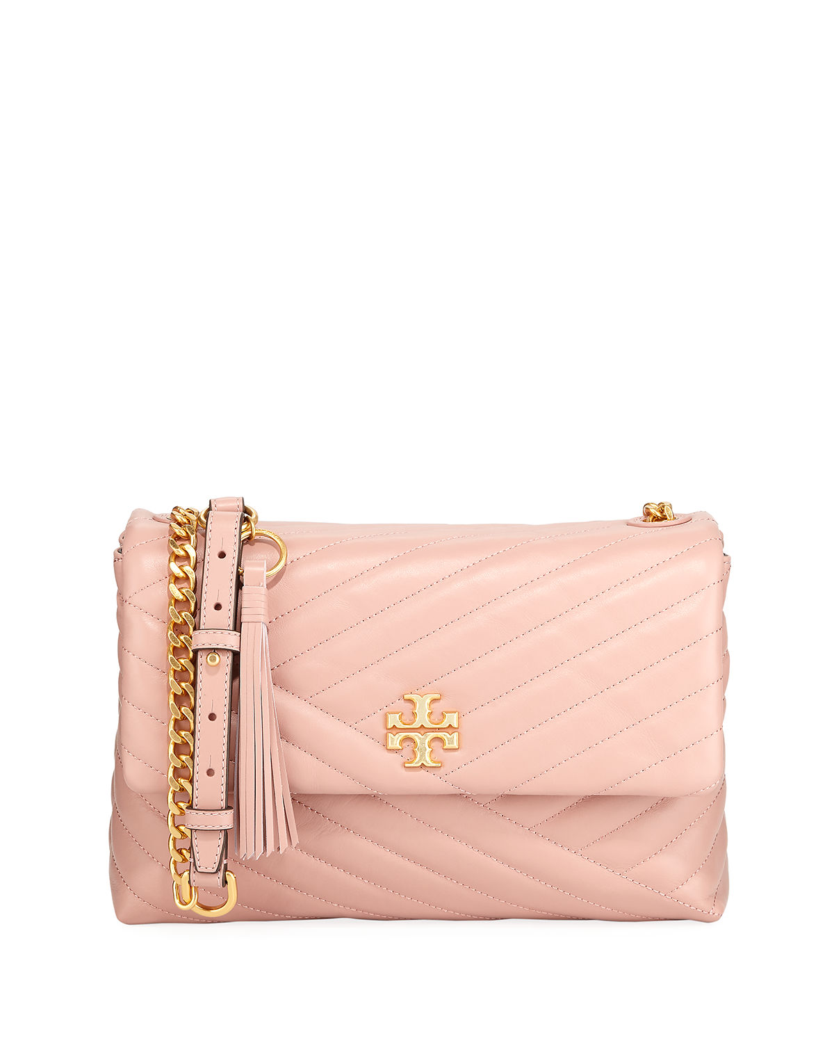 fa099f0ba6d3 Tory Burch Kira Quilted Leather Shoulder Bag   Neiman Marcus