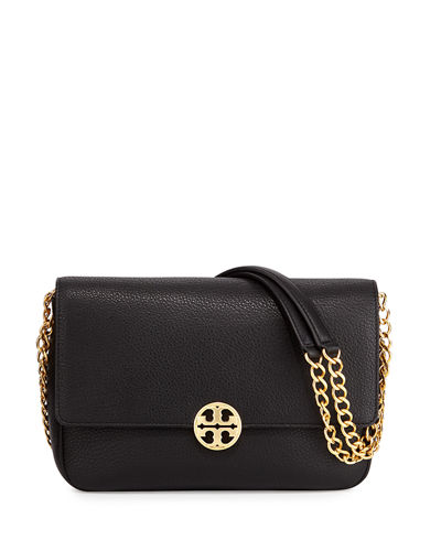 Chelsea Chain-Strap Leather Shoulder Bag