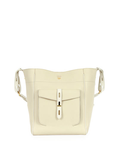 Rialto Grain Calf Bucket Bag