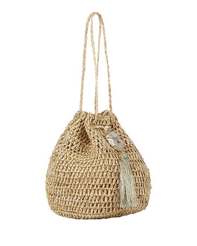 Stintino Small Raffia Bucket Bag