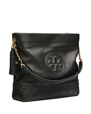 Tory Burch Fleming Quilted Leather Hobo Bag 91c1c6cedd521