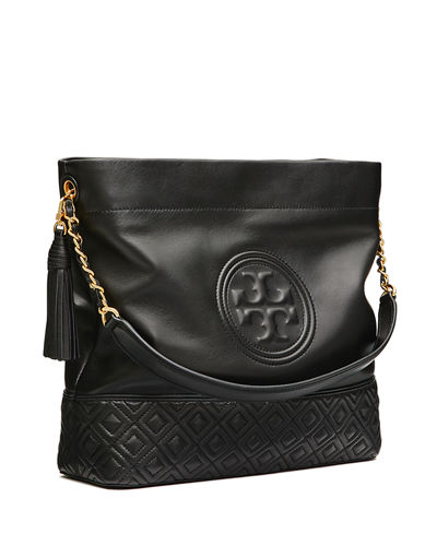 8c6bec605c6 Quick Look. Tory Burch · Fleming Quilted Leather Hobo Bag