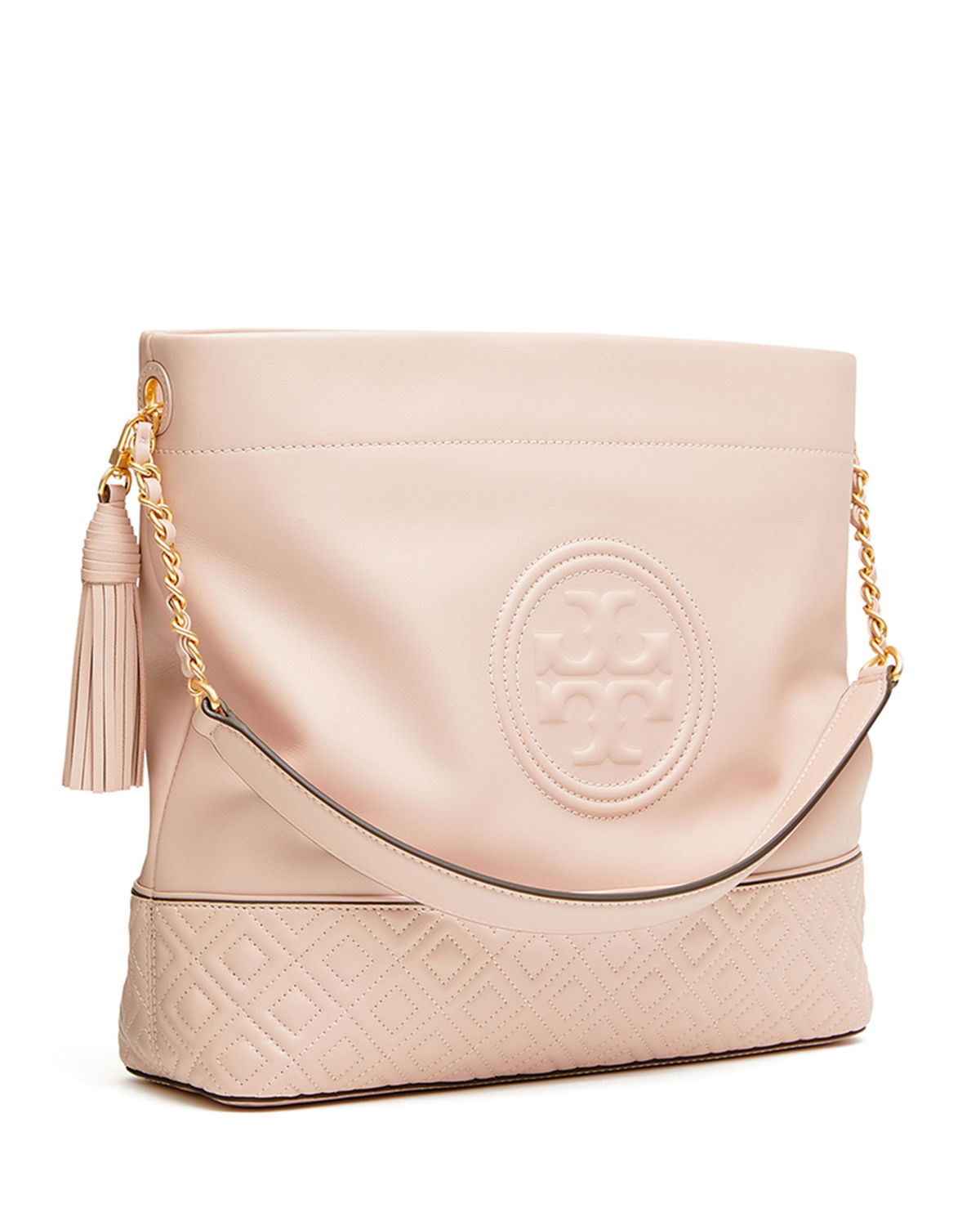 Tory Burch Fleming Quilted Leather Hobo Bag Neiman Marcus