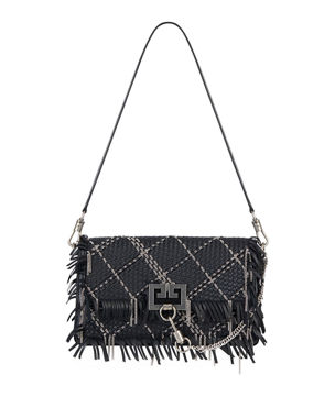 Givenchy Charm Small Woven Leather Shoulder Bag 9fd35648e9