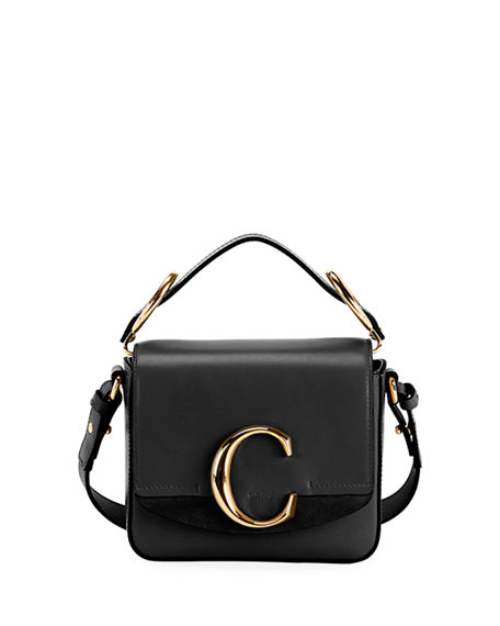Image 1 of 4: Chloe C Mini Shiny Leather Shoulder Bag
