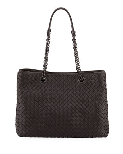 Medium Double Chain Intrecciato Tote