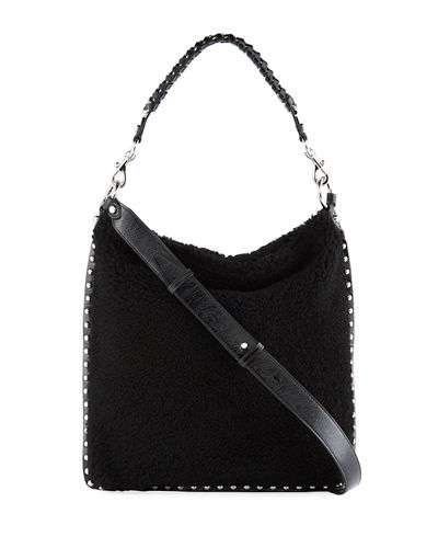 Alexa Shearling Hobo Bag