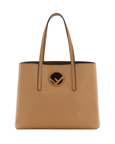 f5573933f2e7 Quick Look. Fendi · F Logo Calf Leather Shopping Tote Bag