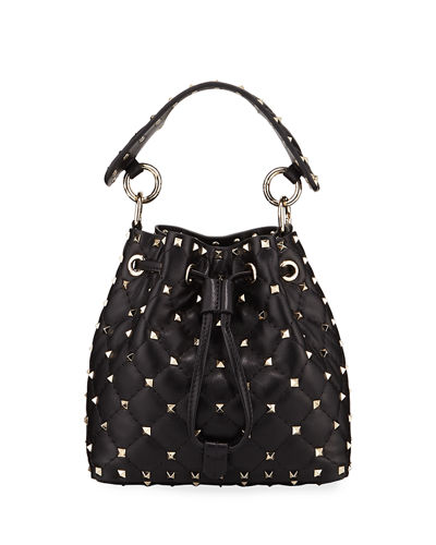 Rockstud Spike Quilted Bucket Bag