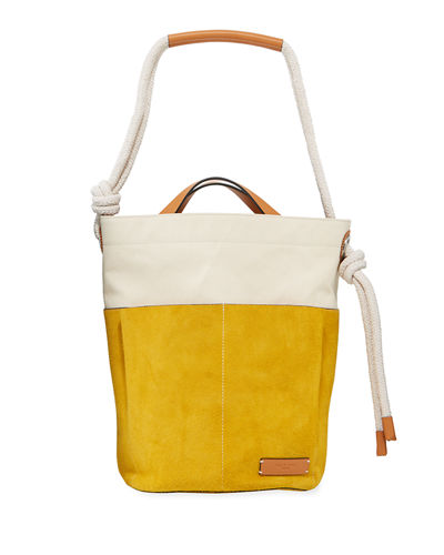 Tool Colorblock Suede Bucket Bag
