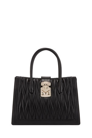 Miu Miu Confidential Medium Matelasse Tote Bag