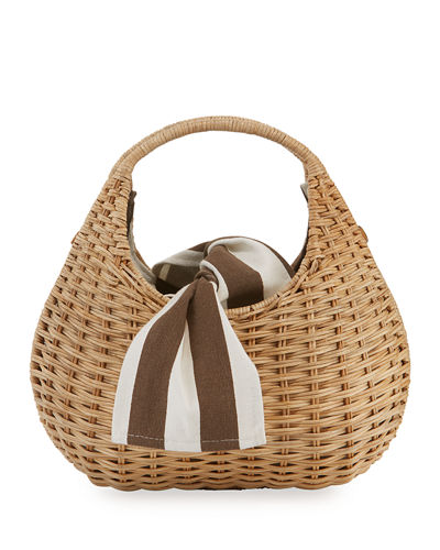Sam Pear-Shaped Wicker Tote Bag