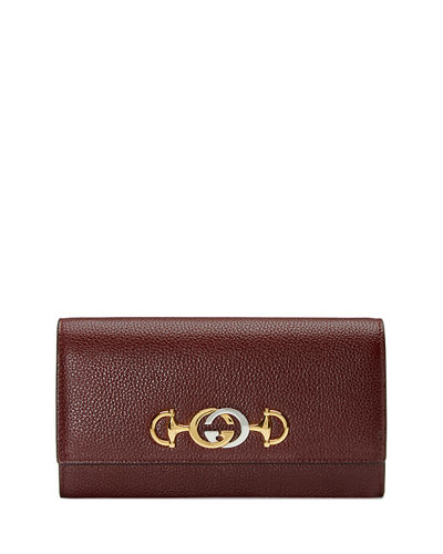 Gucci Zumi Flap Continental Wallet