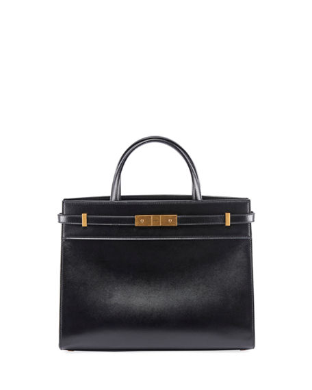 Saint Laurent Manhattan Small Smooth Leather Tote Bag