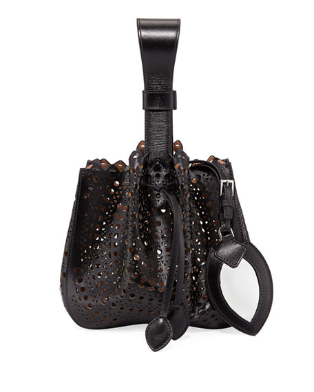 Image 1 of 3: ALAIA Rose Marie Small Bucket Bag