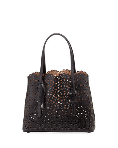 Mina Small Laser-Cut Tote Bag