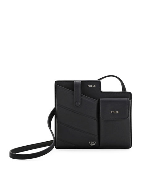 Fendi Bustine Mini Century Calf Crossbody Bag