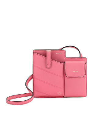 5f978095dec0 Fendi Bustine Mini Century Calf Crossbody Bag